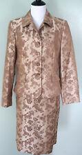 LE SUIT Womens Caramel Beige Tan Floral Skirt Suit Size 10 New NWT