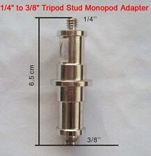 "1/4"" To 3/8"" Tripod Stud Monopod Adapter Spigot Male Screw Thread UK Seller"