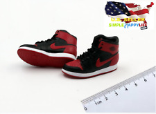 1/6 male Red Black sneakers shoes HOLLOW basketball for hot toys phicen ❶USA❶