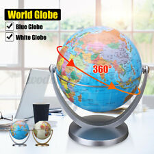 360° Rotating World Globe Earth Map Kids Children Bedroom Decoration with Stand