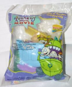 1998 The Rugrats Movie Burger King Toy - Baby Dil Awakens Factory Sealed