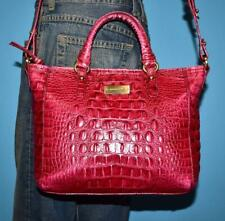 BRAHMIN Red MELBOURNE Croco-embossed Leather Small Cross-body Satchel Purse Bag