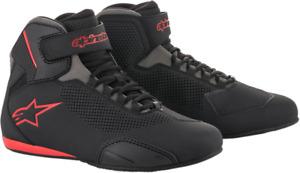 Alpinestars Sektor Vented Street Shoes - Black/Gray/Red - Size 6.5