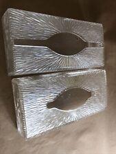 VTG 1950's 1960's Kleenex Wall Mount Tissue Dispenser Box 2 Crystal/Glass Look