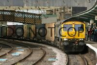 UK DIESEL TRAIN RAILWAY PHOTOGRAPH OF CLASS 66 66434 LOCO. RM66-596