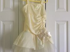 Adorable Pastel Yellow Dance/Skating Dress! Girls S/5-6 $99.00+ Must See!