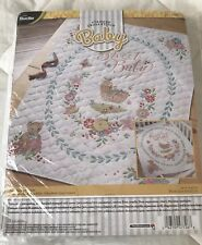 New Bucilla Sweet Baby Stamped Quilt Crib Blanket Cross Stitch Kit 34x43