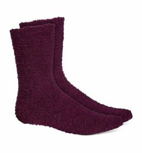 Fuzzy Socks Women's Charter Club Super Soft Color Burgundy Size 9-11