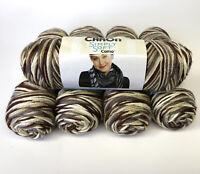 Lot of 5 Caron Simply Soft 4oz Skeins Woodland Camo 100% Acrylic Yarn Medium #4