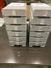 12 drives G-Technology 2TB External G-Drive / Firewire / USB 3.0  Lot