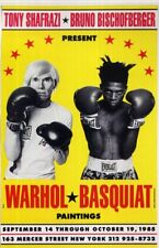 ANDY WARHOL & JEAN-MICHEL BASQUIAT Window Poster - Iconic Artists - preprint