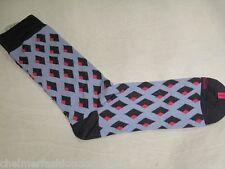 BNWOT -  DUCHAMP LONDON Fine Egyptian Cotton  Socks  Diamond Pattern Pale Blue