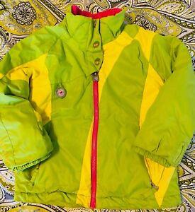 Obermeyer- darling I grow system green w/pink ski/snow jacket- girls size 6