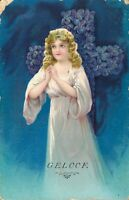 Beautiful - Angel Faith - Vintage Postcard 03.45