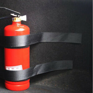 Universal Car Fire Extinguisher Fixing Band Holder Mounting Belt Cage Stand TZ
