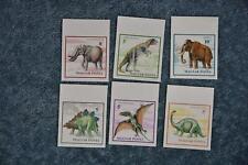 1990 Hungary #3263-3268 Dinosaurs Set Imperf. - MNH