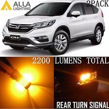 Alla Lighting LED Rear Turn Signal Blinker Light Bulb 7440NA Amber for Honda 2PC