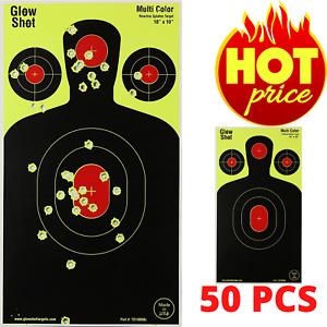 Shooting Targets Reactive Splatter Range Paper Target Gun Shoot Rifle - 50 Pack