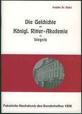 Königl. Ritter Akademie Liegnitz 1908 Schlesien Niederschlesien Geschichte Armee