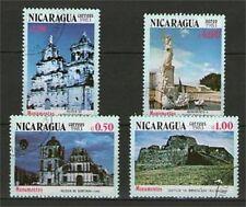 SERIE DE 4 TIMBRES OBLITERES - NICARAGUA - MONUMENTS DU PAYS