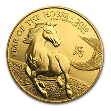 2014 Great Britain 1 oz Gold Year of the Horse BU - SKU #80326