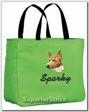 Basenji embroidered essential tote bag 18 Colors