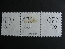 CANADA perfin variety Olgilvie Flour Mills Ft William 2 orientations in strip!