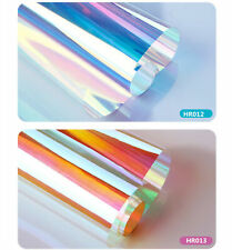 Dichroic Rainbow Window Film Transparent Two-way Sticker for Festival Decoration