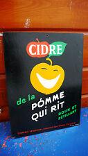 Objeto de Profesión Placa cartón publicidad Bebida Sidra La Manzana Que Rit 1950