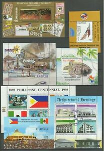 Philippines 1949/1990 ☀ Lot of MNH Blocks and fdc - 4 scans