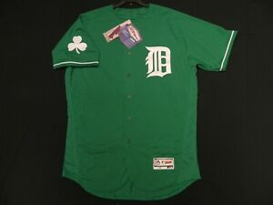 Authentic Detroit Tigers Green Alternate St. Patricks Day FLEX BASE Jersey 44