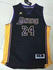 Kobe Bryant Los Angeles Lakers 24 Black Throwback NBA Basketball Swingman Jersey
