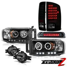 02-05 Dodge Ram 1500 5.7L SLT DRL Headlight+LED Tail+Third Brake+Bumper Fog Lamp