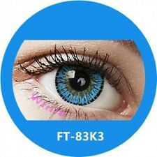 Lentille couleur bleu 3 tons FT83K3 - blue color contact lenses