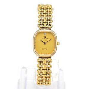 Vintage Omega De Ville Quartz Women's Watch 20.0 x 17.5 mm
