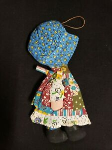 HOLLY HOBBIE vintage cloth ornament 7.5 inches American Greetings
