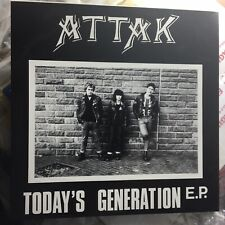 "ATTAK :: ""Todays Generation"" . 7"" CLEAR Vinyl EP . Rebellion . mint"