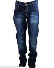 Hosengröße 40 distressed Herren-Jeans aus Denim