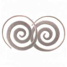 Lovely Coil Earrings Karen Hill Tribe Pure Silver  1126