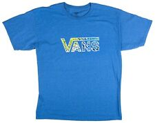 Mens VANS CLASSIC DROP SIZE LARGE T-SHIRT BLUE HEATHER SKATE VROD VROND