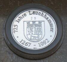 725 Jahre Lauchhammer 1992 - Gedenkmedaille in Feinsilber mit Zertifikat