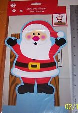 NIP Christmas SANTA Paper Centerpiece Decoration  EASY TO ASSEMBLE