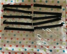 Mary Kay Lot Of 10 Clear Heavy Vinyl Zippered Makeup Bag Consultant