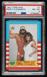 1987 Topps WWF Randy Savage Elizabeth #7 PSA 8 HOF