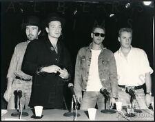 1987 Original Photo of Rock Music Legends – U2 – Bono – The Edge Clayton Mullen