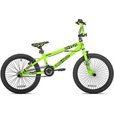 "20"" Green Boys Mens Free Style Wheel BMX Trick Bike Brakes Gyro Detangler Pegs"