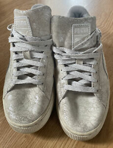 Puma Cream Shimmer Trainers Size 6
