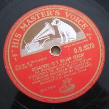 3 X 78 RPM GIOCONDA DE VITO : BACH VIOLIN CONCERTO IN E MINOR HMV DB 9370-2