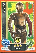 Star Wars The Force Awakens Force Attax Extra Card #23 C-3PO