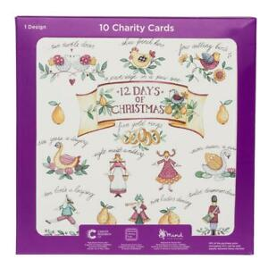 WHSmith 12 Days Of Christmas Charity Christmas Cards Greeting Cards Pack Of 10